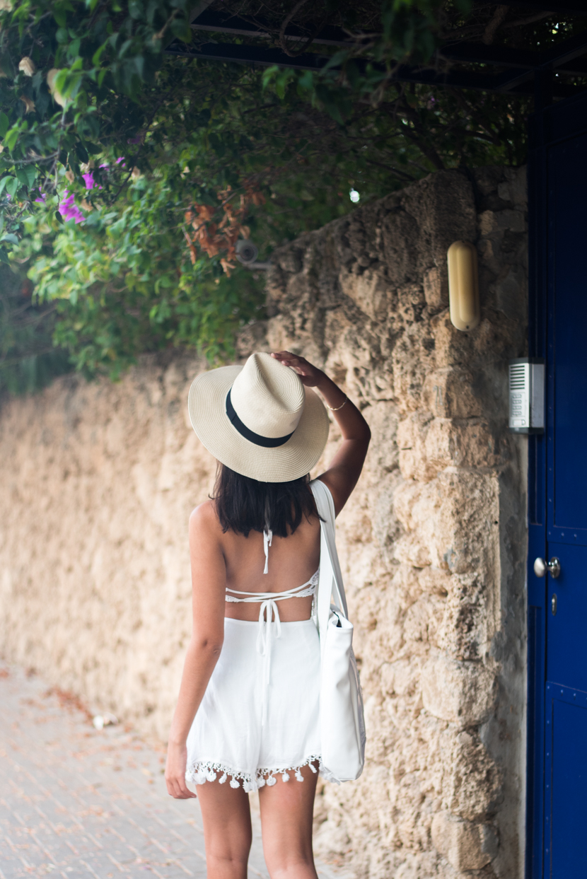 Mexico Dreaming, white romper, vacation outfits, dress for your dream vacation, fashion tricks, asos, ellka's boutique, asos hat, medusa bag