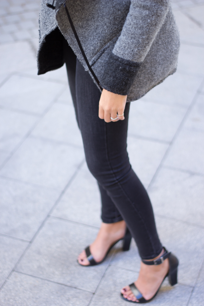 Why Delilah blog- black outfits, sweather and sandals, november