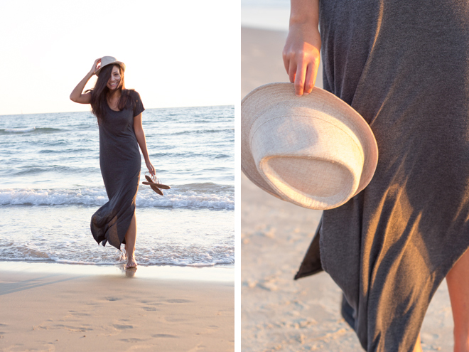 Why Delilah blog- Afternoons, maxi dress, summer, fedora, beach, basic