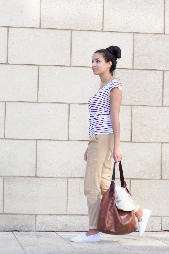 That Awkward Blog- Spring outfit, stripes, slip ons