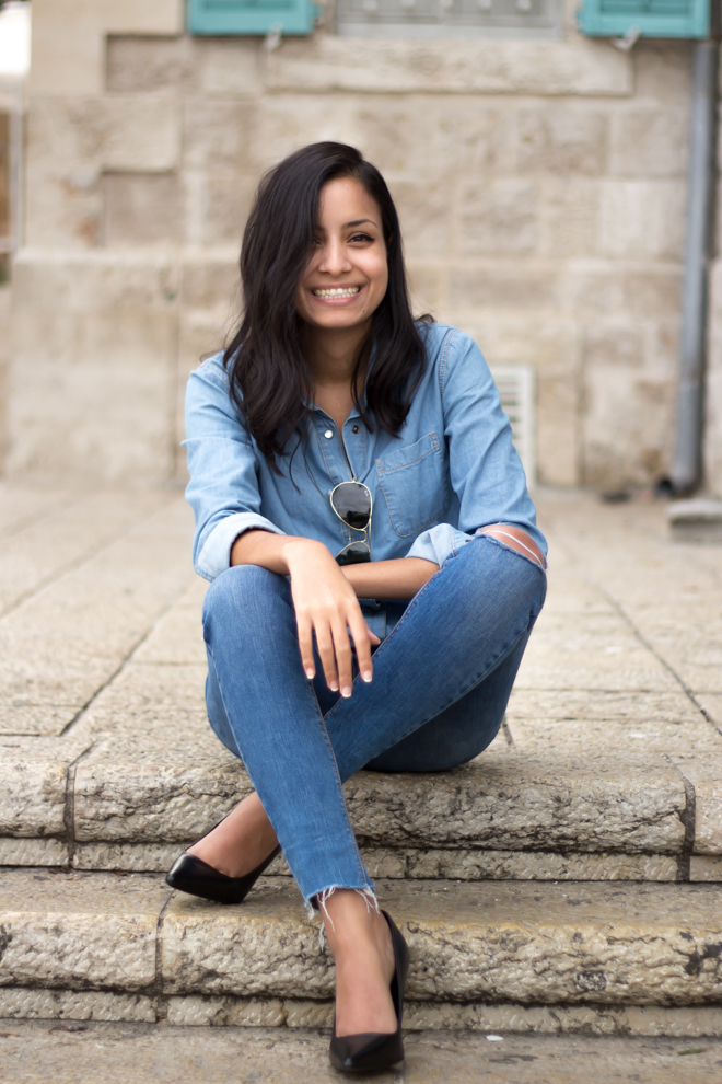 Why Delilah blog- double denim, jeans, urban, outfit, denim on denim
